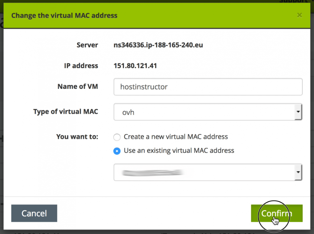 OVH use same MAC address