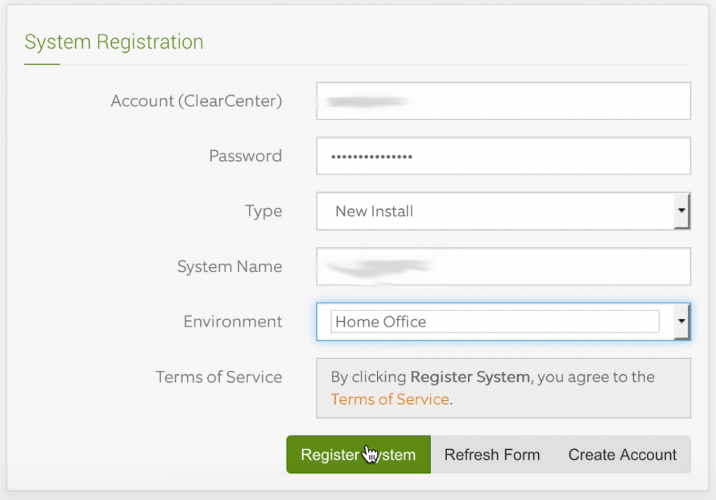 ClearOS registration